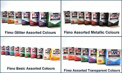 Staedtler Fimo Soft Effect Assorted Colour Packs Metallic Glitter Pastels Multi