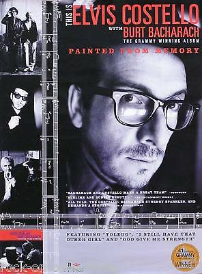 Costello & Bacharach 1999 Painted From Memory Poster Original