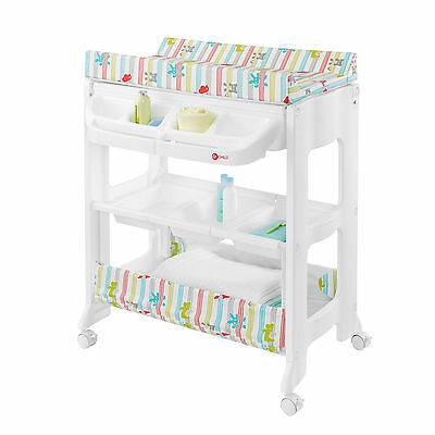 New My Child Peachy Changing Unit Multi Zoo With Concealed Bath And Storage