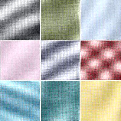 100% Yarn Dyed Cotton Fabric John Louden 2.5mm Gingham Check Squares 144cm Wide