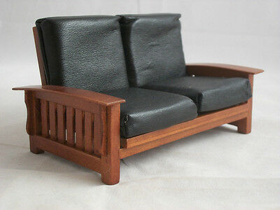 Mission Craftsman Sofa Settee T6236  miniature dollhouse furniture 1/12 scale