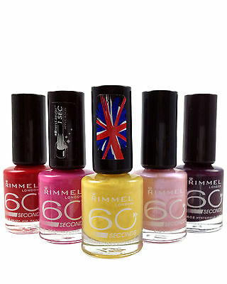 Rimmel 60 Seconds Nail Polish 8ml / ON SPECIAL OFFER / CHOOSE YOUR SHADE **