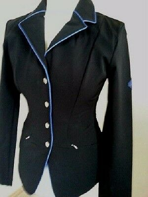 Clearance! John Whitaker Softshell Competition Jacket Black/royal Blue Piping