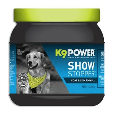 K9 Power Show Stopper for healthy skin and coat with Vitamins,Omega 3, 6, DHA
