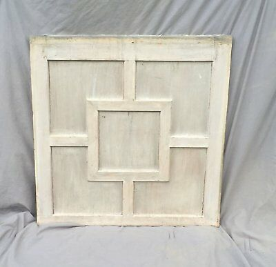 Antique Wood Window Panel Architectural Salvage Shabby Cottage Chic Vtg 968-16