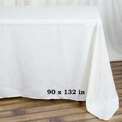 """5 Pack 90""""x 132"""" Rectangle Linen Tablecloth Great Weddings. Choose Your Color!"""