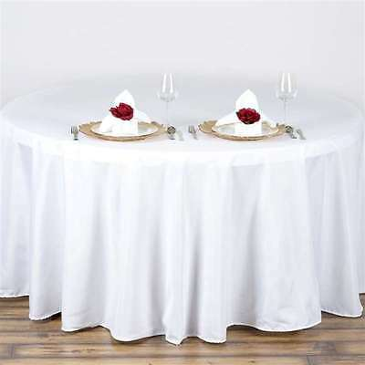 5 pack 132 in. Polyester Seamless Tablecloth~Wedding~NEW