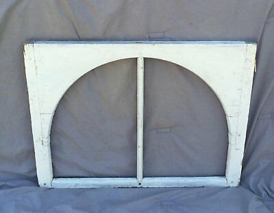 Antique Window Sash Dome 2 Lite Arch Top Shabby Cottage Chic Vtg 971-16