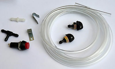 Classic Car Universal Windscreen Washer Pump & Jet Hose Tubing Installation Kit