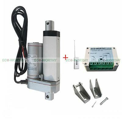 """2 Set 2"""" 12V Linear Actuators with Bracket Remote Controller for Camera Tripods"""
