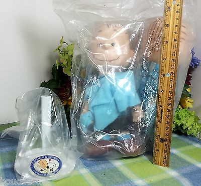 "Snoopy Peanuts Linus Doll New sealed Applause 9"" with stand"