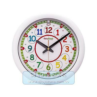 EasyRead Classroom Teacher Clock 12 & 24 Hours 29cm Teaching Resource 2-Step Sys