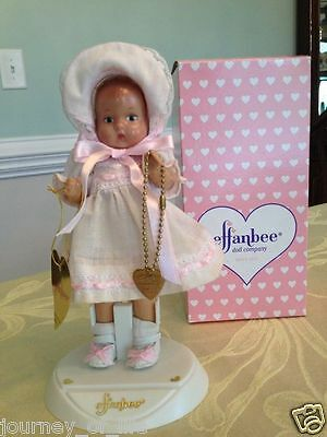 """NIB Vintage EFFANBEE V669 BABY TINYETTE 7"""" Pink Doll Classics Marked 9704"""