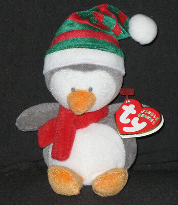TY COTTONBALL the SNOWMAN JINGLE BEANIE BABY MINT with MINT TAGS