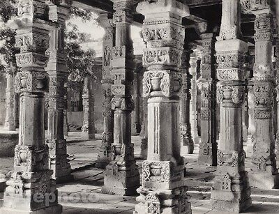 1928 Vintage INDIA Delhi Quwwat-Ul Islam Mosque Column Architecture By HURLIMANN