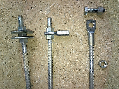 THREADED/BOOKER ROD/BAR,ZINC PLATED,METRIC,12mm X 2.8m long in good condition