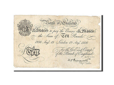 [#160891] Great Britain, 10 Pounds, 1934, KM:336a, 1936-08-19, EF(40-45)