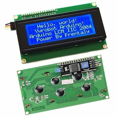 IIC/I2C/TWI/SP​​I Serial Interface2004 20X4 Character LCD Module Display Blue CK
