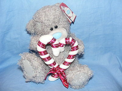 Me To You Tatty Teddy Christmas Bear With Candy Cane Heart  Present Gift NEW