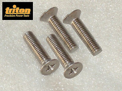 Triton MOF, TRA01/B, JOF001 Router Table Mounting Plate PH S/Steel Screws 19mm
