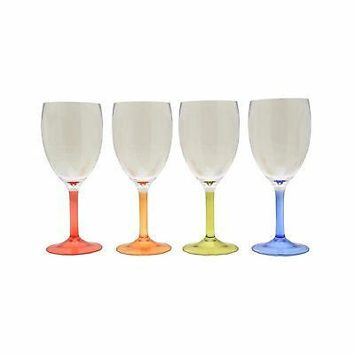 Flamefield Party Acrylic Wine Glasses - Pack of 4