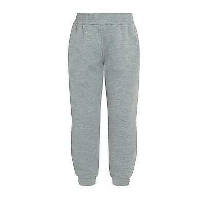 Plain Grey Marl Jogging Bottoms Childrens Boys Girls Sizes  Made in The UK