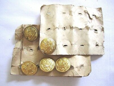 WWII 4 US Army Detached Enlisted Man American Emblem Co.Brass Shank Dome Buttons