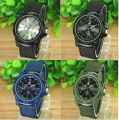 Mens Watches Quartz Analog Stainless Steel Sports Watch Army Wrist Watch