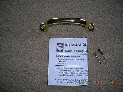 ((( Pella ))) Window Double-Hung Sash Lift  BRIGHT BRASS  New in Package