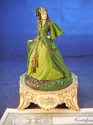 Gone With The Wind Franklin Mint Scarlett's Deception Dome With Coa