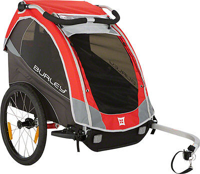 New Burley Solo Child Trailer Red