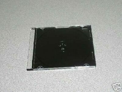 100 New 5.2Mm Slim Cd Jewel Cases W/ Black Tray Jl08