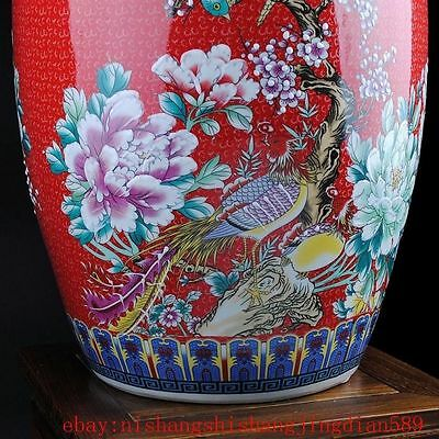 China porcelain HandmadeRed the pot of rice