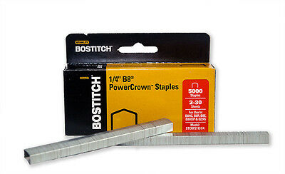 "Bostitch B8 Power Crown Staples 1/4"" Box of 5000 Wholesale Pricing!"