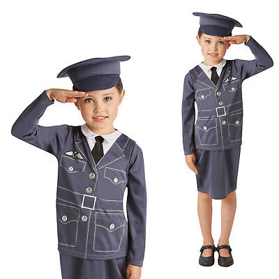 Rubies Childs W.R.A.F Routine Uniform Royal Air Force Kids Fancy Dress Costume