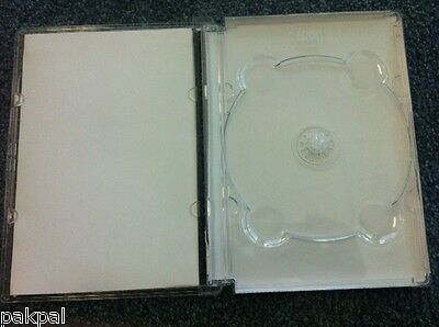 50 New High Quality Super DVD Case, Super Jewel Box King Clear,SF11-ST