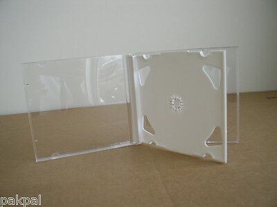 100 New Double Cd Jewel Cases With White Tray