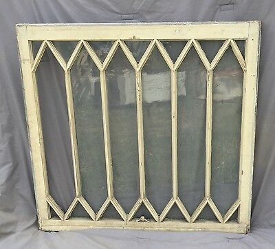 Antique Window Diamond Sash Pattern Old Shabby Cottage Chic Garden Vtg 985-16