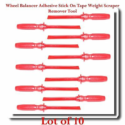 (Lot of 10) Wheel Balancer Adhesive Stick On Tape Weight Scraper Remover Tool
