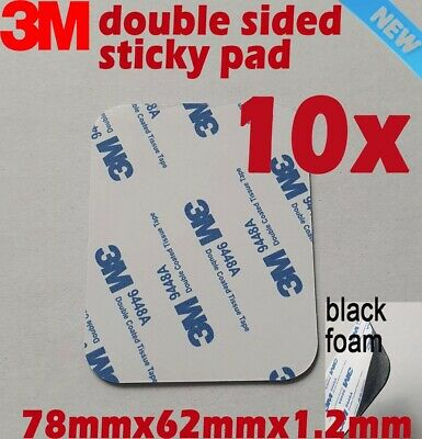 10pcs 3M Double Sided Adhesive foam tape sticky pads black 9080EVA 78mmX62mm