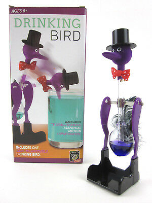 DRINKING BIRD retro vtg science toy happy lucky dipping perpetual motion New NIB