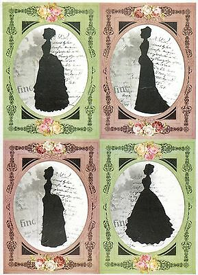 Rice Paper for Decoupage Decopatch Scrapbook Craft Sheet Ladies Silhouette