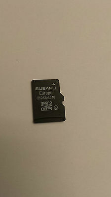 SUBARU LEGACY OUTBACK  IMPREZA  FORESTER VX Navigation Micro SD Card MAP EUROPE