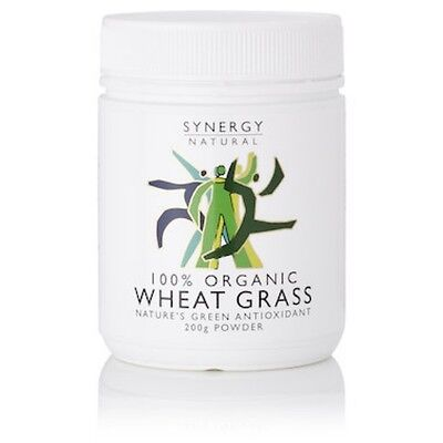 3 X Synergy Wheat Grass Powder Organic 200g - IN STOCK - SHIPS TODAY!
