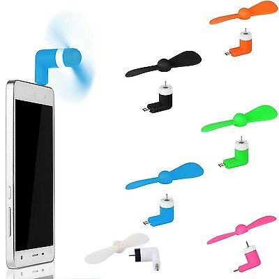Portable Mini Fan Micro USB Mobile Phone Cooling Small Power For Android iPhone