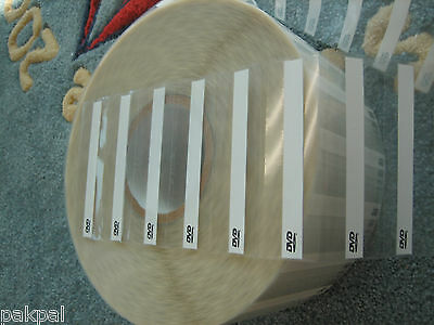 """1000 Labels/Roll DVD Label to Seal DVD Case, 4"""" x1 5/16"""" Sale"""