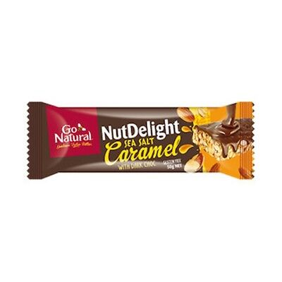 3 X Go Natural Bar Nut Delight - Sea Salt Caramel w Dark Chocolate 50g