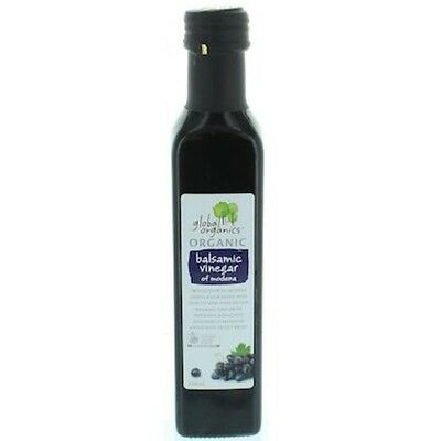 3 X Global Organics Vinegar Balsamic Organic 250mL