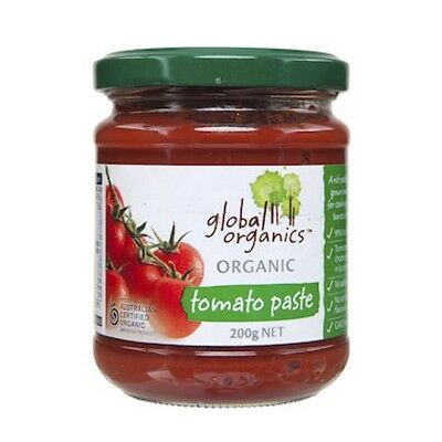 3 X Global Organics Tomato Paste Organic (Glass) 200g