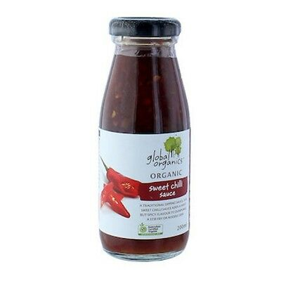 3 X Global Organics Sauce Sweet Chilli Organic 200mL